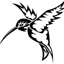 Tribal Hummingbird