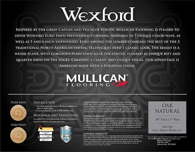 Mullican Wexford label