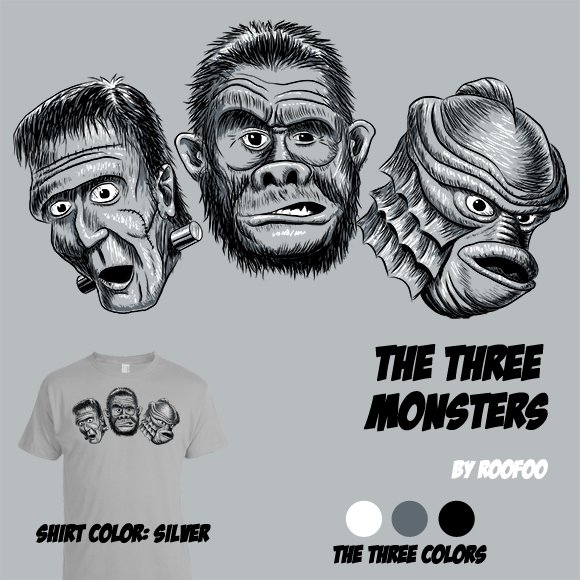 The Three Monsters t-shirt
