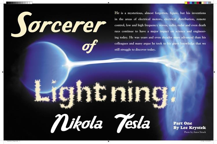 Nikola Tesla magazine article
