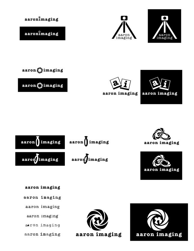 aaron imaging logo ideas