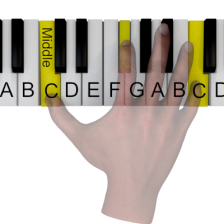 3D piano simulation