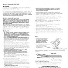 Blue Ridge Flooring Instructions