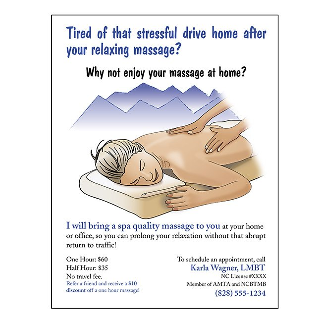 Massage Therapist Flyer