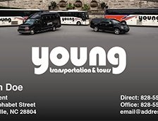 Young Transportation Business Cards