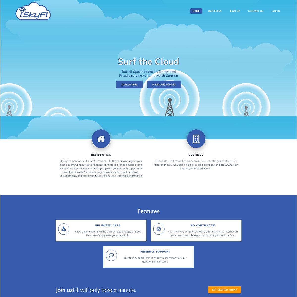 SkyFi Website